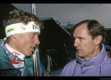 Pirmin Zurbriggen et Jean-Claude Killy
