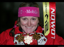 Janica KOSTELIC (SRO) Gold Medal in Slalom, Downhil and Combined, à Bormio (2005)