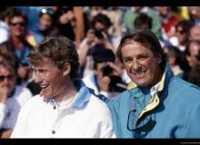 Coupe du Monde de ski  Pirmin ZURBRIGGEN et Adolf OGI