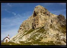 Cappella degli Alpini et les Tre Cime di Lavaredo