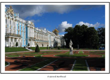 Le Grand Palais de Tsarkoïe Selo.