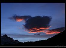 Lever de soleil sur les Alpes vaudoises