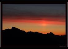 Lever de soleil sur les Alpes vaudoises.