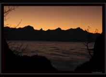 Les Alpes vaudoises au lever du soleil