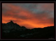 Le ver de soleil sur les Alpes vaudoises