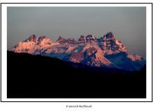 Les Dents du Midi vu de la montŽe ˆ Louvie