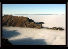 Mer de brouillard automnale