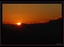 Lever de soleil depuis l'Aiguille des Champex