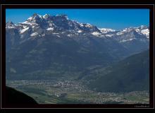 Le Chablais et les Dents du Midi, vus du col de Tompey