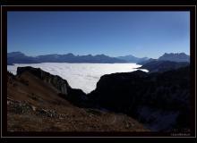 Mer de brouillard depuis le Grammont