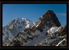 Les Grandes Jorasses et le Mont-Blanc