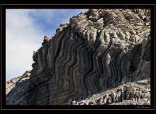 Plissement rocheux au col de Bossetan
